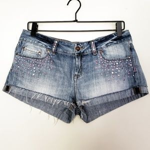 | PINK | Cheeky Shorts with Rhinestones